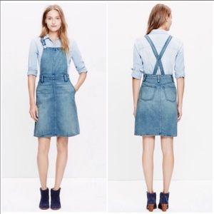 Madewell Denim Jumper Overalls Dress Skirt